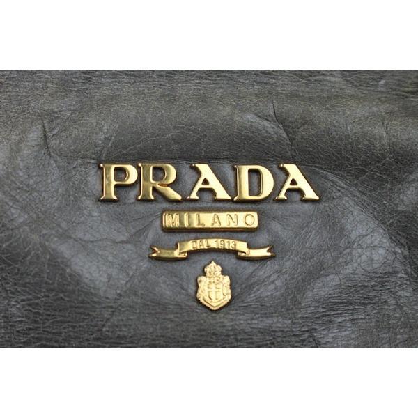 プラダ PRADA レザー バッグ 2WAY ショルダー/ハンド グレー 03362