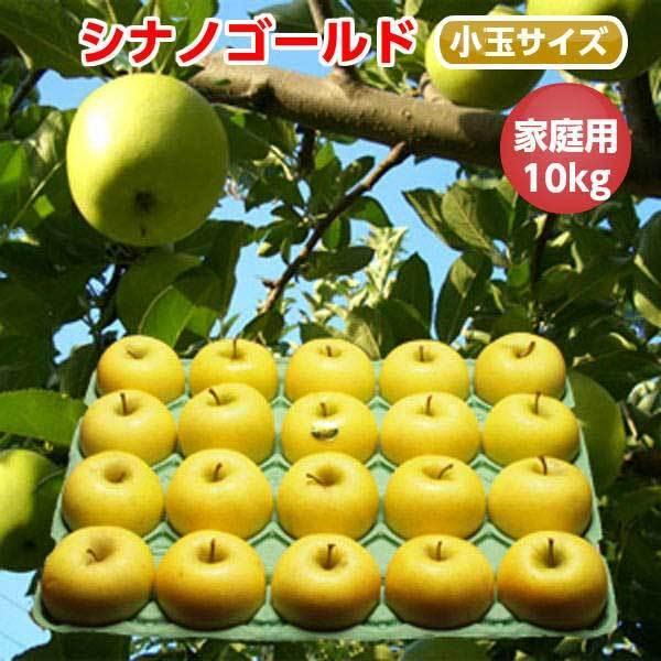 シナノゴールド りんご 葉とらず 10kg 36-40玉前後 ご家庭用ランク 送料無料