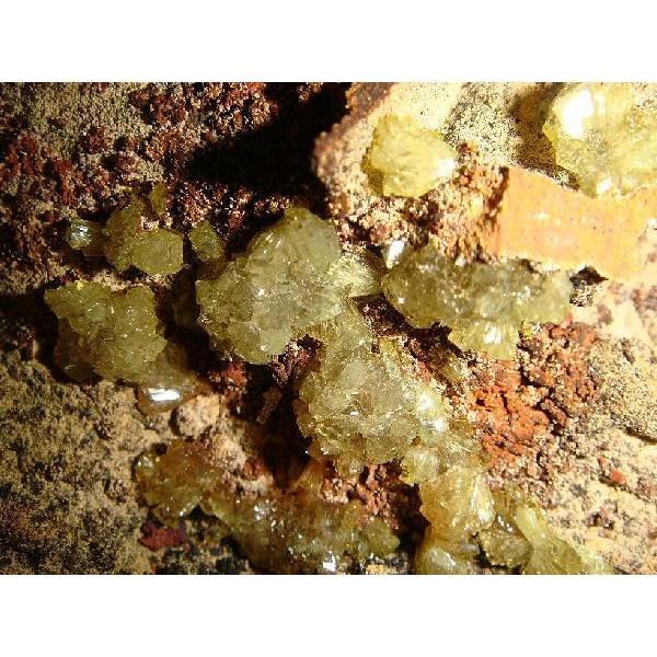 アダマイト・オン・鉄母岩 約16×9×8cm、約780g  メキシコ産 鉄母岩付き原石 k5133|tamichi