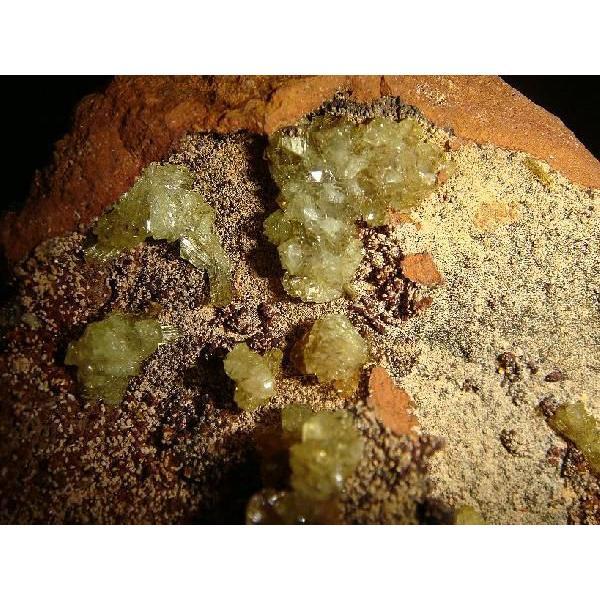 アダマイト・オン・鉄母岩 約16×9×8cm、約780g  メキシコ産 鉄母岩付き原石 k5133|tamichi|06