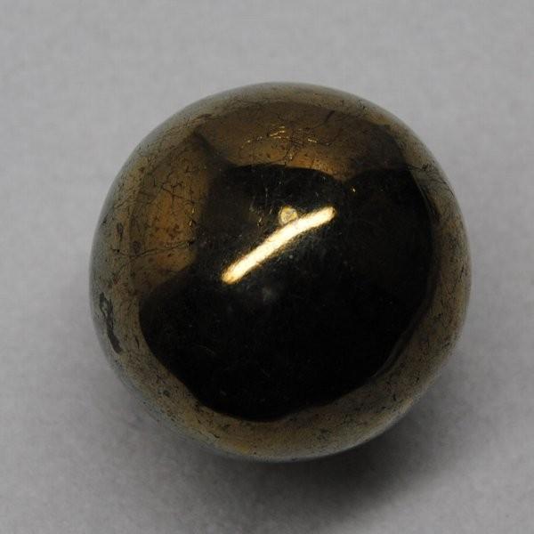 カルコパイライト  ペルー産 玉 約288g  直径:約51mm  黄銅鉱  q4403