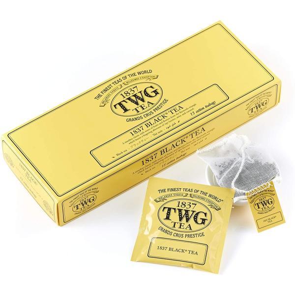 TWG Tea コットンティーバッグ 正規輸入品 (1837 Black Tea, 2.5g×15個入り) tamurashop 02