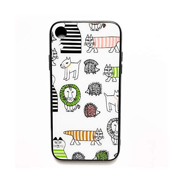 iPhoneシリーズ リサラーソンデザイン マイキー 強化ガラスケース (iPhone7,7PLUS,8,8PLUS,X,XS,XS MAX|tamurashop
