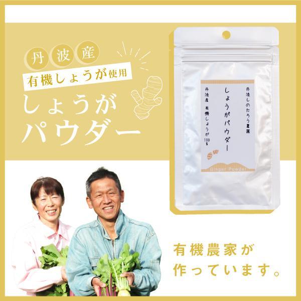 有機しょうがパウダー  有機JAS認定 丹波産有機しょうが100%使用。西日本 野菜|tanba-shinotaro