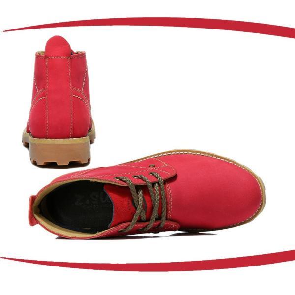 ショットブーツ レザー シューズ 婦人革靴 カジュアル チャッカブーツ  シンプル オシャレギャル レディース