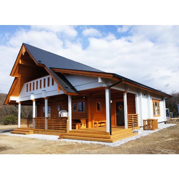 ●サーリ(ログ厚92mm)折れ屋根が印象的なコンパクト3LDKログハウス|tanoclife