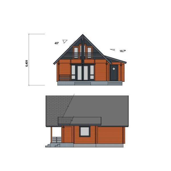 ●サーリ(ログ厚92mm)折れ屋根が印象的なコンパクト3LDKログハウス|tanoclife|03