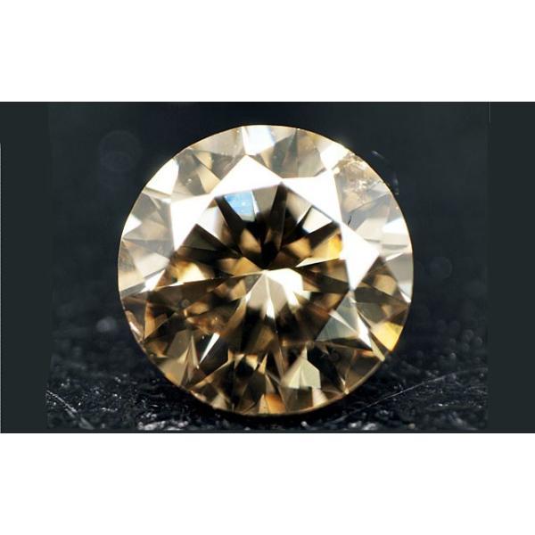 ブラウンダイヤモンド ルース 0.467ct FANCY LIGHT BROWN SI-2 ラウンド