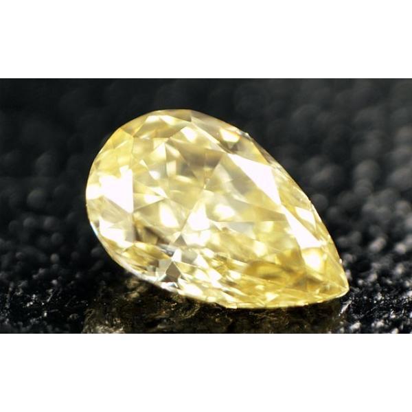 イエロー(カメレオン)ダイヤモンド ルース 0.148ct FANCY BROWNISH GREENISH YELLOW SI1 ペアシェイプ