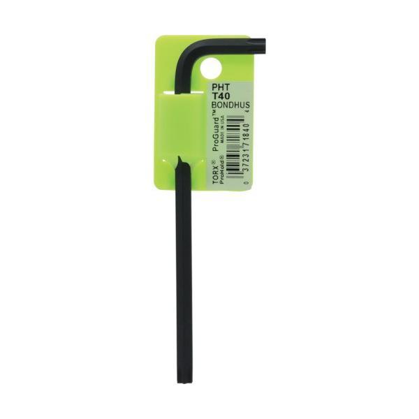 ボンダス プロホールド トルクスL−レンチ T40 ネジつかみ機能付 PHT40 1本 (メーカー直送)