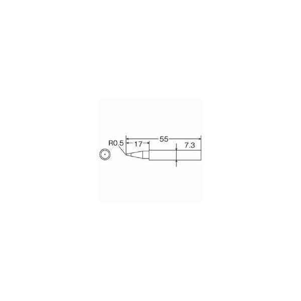 太洋電機産業 グット 替こて先B型TQ−77/95用 TQ−77RT−B 1本 (メーカー直送)