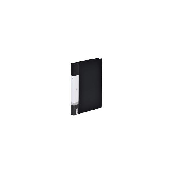 リヒトラブ リクエスト 名刺帳(ポケット交換タイプ) A4タテ 30穴 300カード ヨコ入れ 黒 G8801−24 1冊