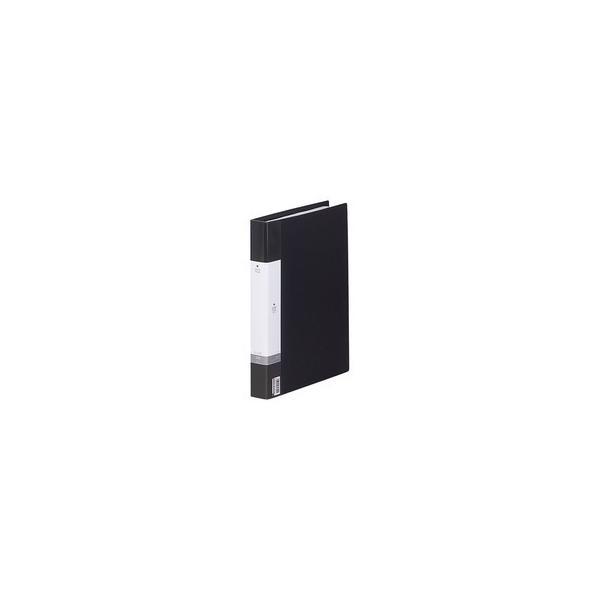 リヒトラブ リクエスト 名刺帳(ポケット交換タイプ) A4タテ 30穴 500カード ヨコ入れ 黒 G8802−24 1冊