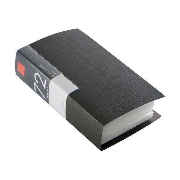 バッファロー CD&DVDファイルケース ブックタイプ 72枚収納 ブラック BSCD01F72BK 1個