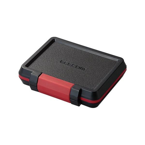 エレコム SD/microSDカードケース 耐衝撃 ブラック CMC−SDCHD01BK 1個
