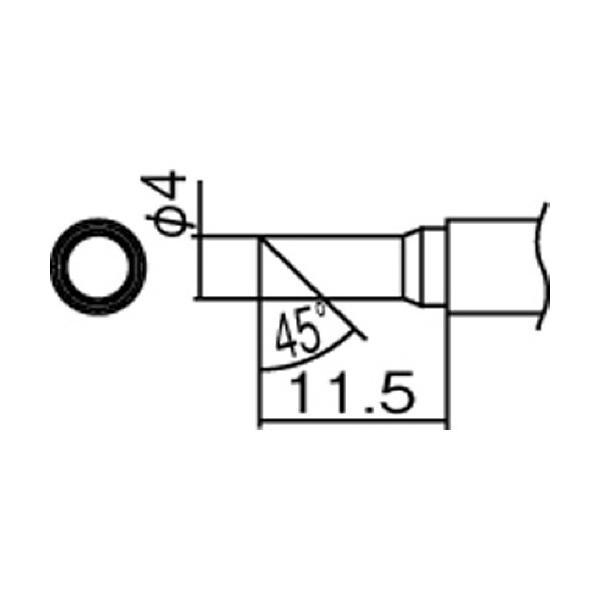 白光 FM2027・FM2028用交換コテ先 T12シリーズ 4C型 T12−C4 1本 (メーカー直送)