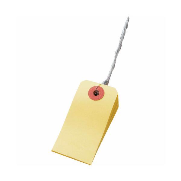 TANOSEE カラー荷札 6号 30×60mm 黄 1パック(200枚)