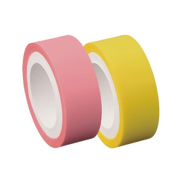 ヤマト メモック ロールテープ フィルムタイプ つめかえ用 15mm幅 パステルピンク&イエロー RF−15H−6EN 1パック(2巻)