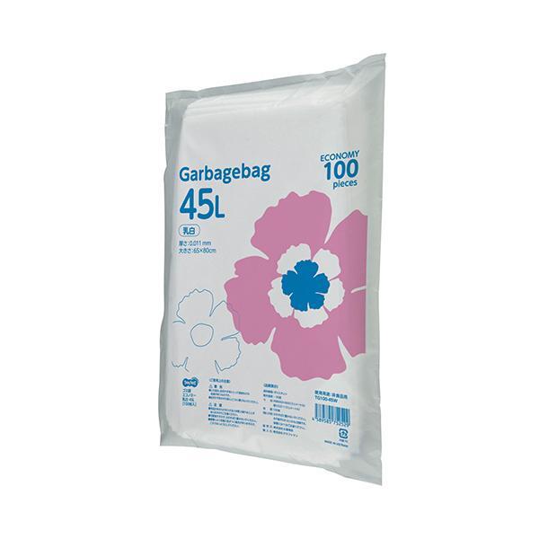TANOSEE ゴミ袋エコノミー 乳白半透明 45L 1パック(100枚)