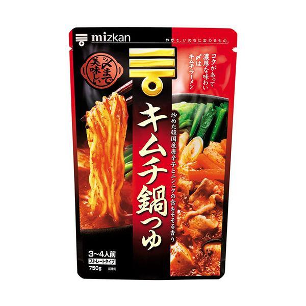 ミツカン 〆まで美味しい キムチ鍋つゆ ストレート 750g 1個