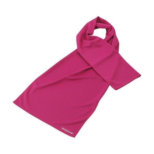 フットマーク クールコアタオル 30×120cm ピンク 1枚 (お取寄せ品)
