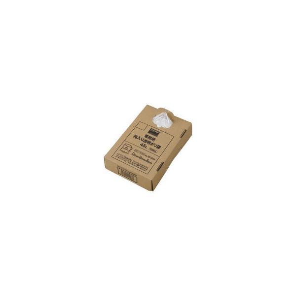 TRUSCO 業務用箱入透明ポリ袋 45L X0045N 1箱(100枚) (メーカー直送)
