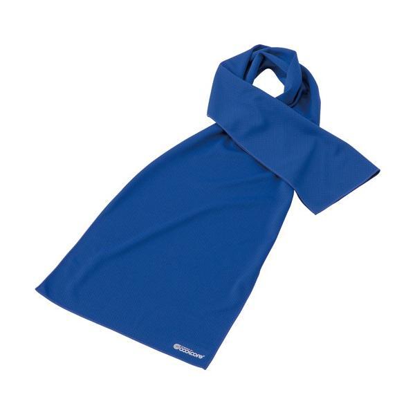 フットマーク クールコアタオル 30×120cm ブルー 1枚 (お取寄せ品)