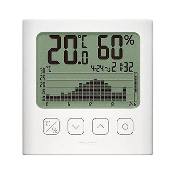 タニタ グラフ付きデジタル温湿度計 ホワイト TT−580−WH 1個 (お取寄せ品)