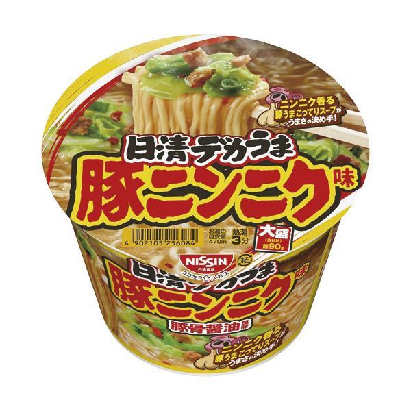日清食品日清デカうま豚ニンニク味111g1ケース(12食)