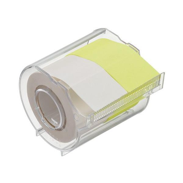 ヤマト メモック ロールテープ カッター付 25mm幅 白&レモン R−25CH−WL 1個
