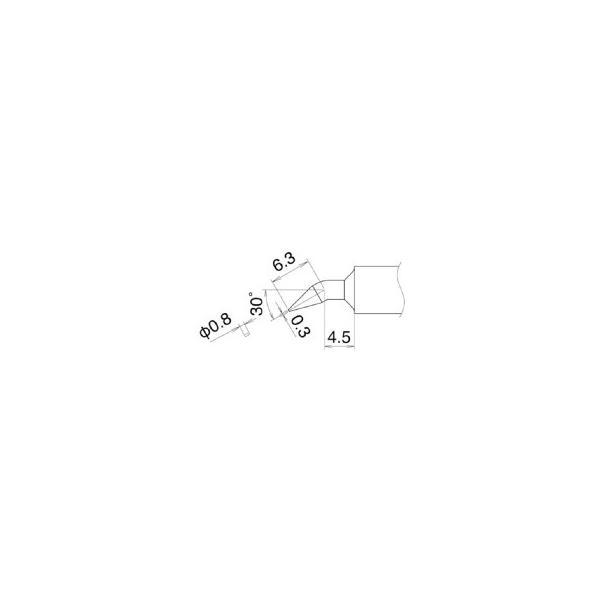 白光 こて先 0.8JD型 T22−JD08 1本 (メーカー直送)