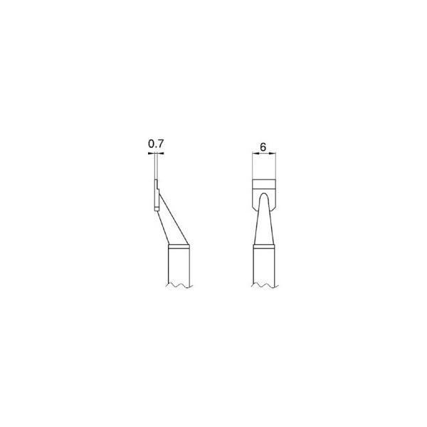 白光 こて先 SOP 6L型 T8−1005 1パック(2本) (メーカー直送)