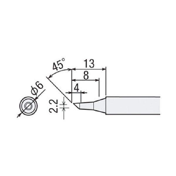 太洋電機産業 グット 替こて先2BC型PX2/PX3/SVS用 PX−2RT−2BC 1本 (メーカー直送)