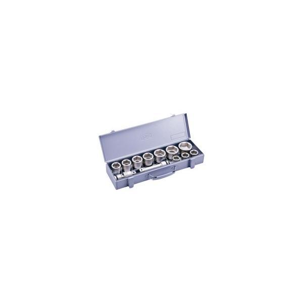 TONE インパクト用ソケットセット(メタルトレー付) 12pcs NV6102 1セット (メーカー直送)