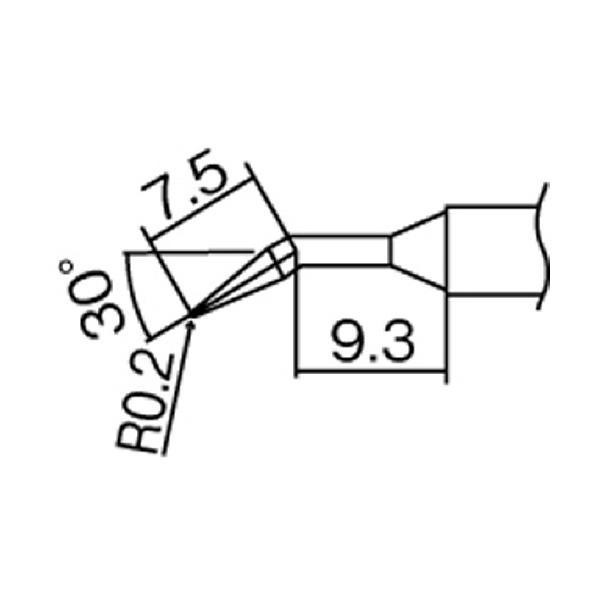 白光 こて先 0.2JL型 T12−JL02 1本 (メーカー直送)