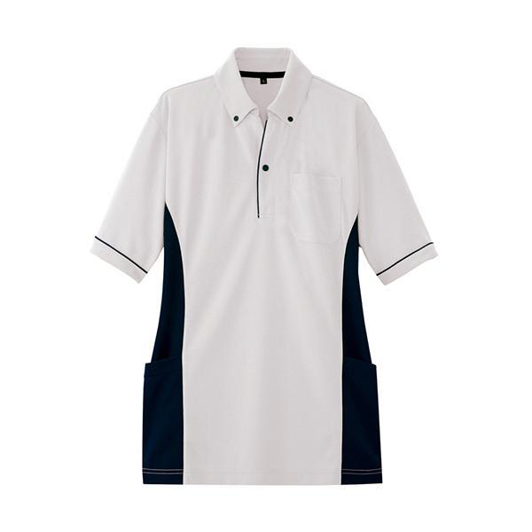 アイトス サイドポケット半袖ポロシャツ(男女兼用) ダンボールニット シルバーグレー LLサイズ AZ−7679−003−LL 1着 (お取寄せ品)