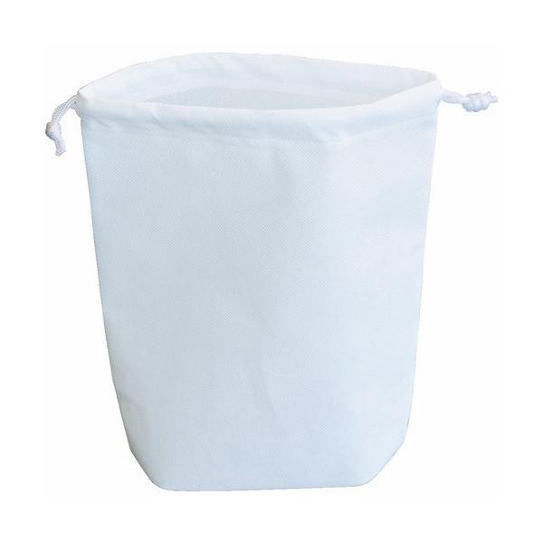 TRUSCO 不織布巾着袋 B5サイズ マチあり ホワイト HSB5−10−W 1袋(10枚) (メーカー直送)