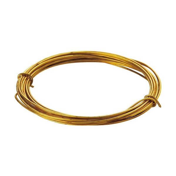 TRUSCO 真鍮線 線径0.30mm×15m TBW−30 1巻 (メーカー直送)
