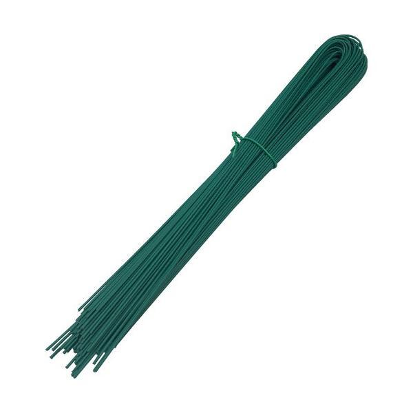 TRUSCO 錆びに強いU字被覆結束線 緑色 全長450mm 約210g TUAW−450−GN 1束 (メーカー直送)