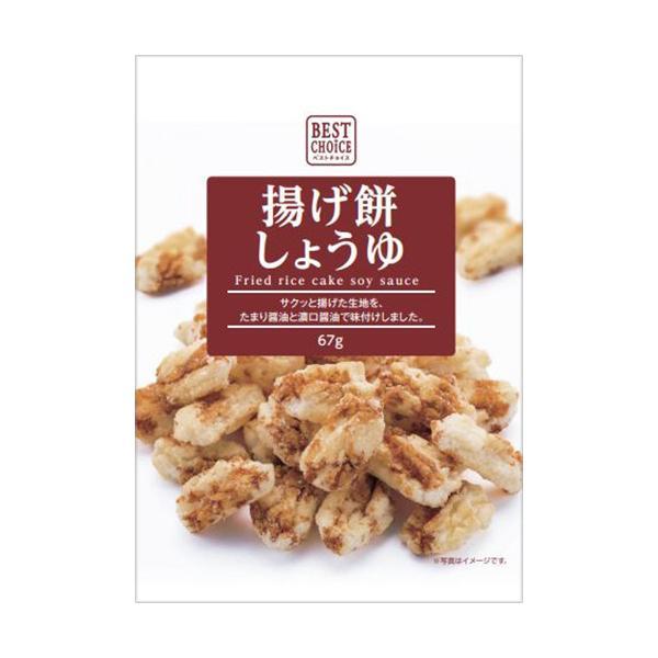 阿部幸製菓 ベストチョイス 揚げ餅しょうゆ 75g 1セット(12パック) (お取寄せ品)