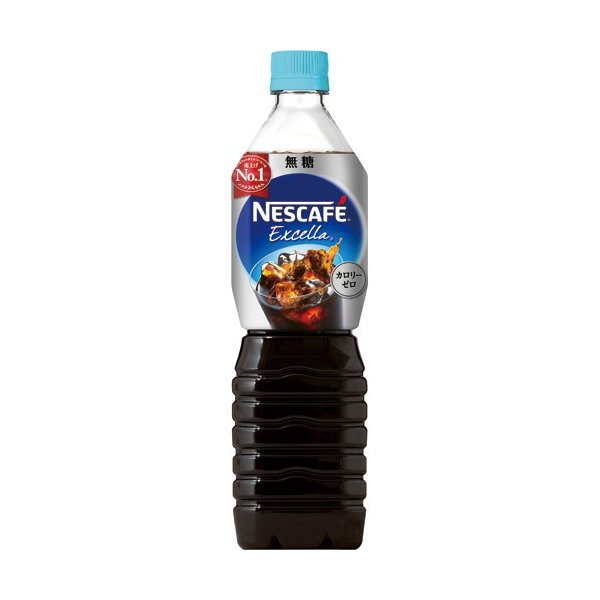 ネスレ ネスカフェ エクセラ ボトルコーヒー 無糖 900ml ペットボトル 1ケース(12本)