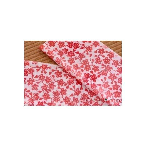 手拭い 枝桜(ピンク) (てぬぐい えだざくら)|tanoshikurashi