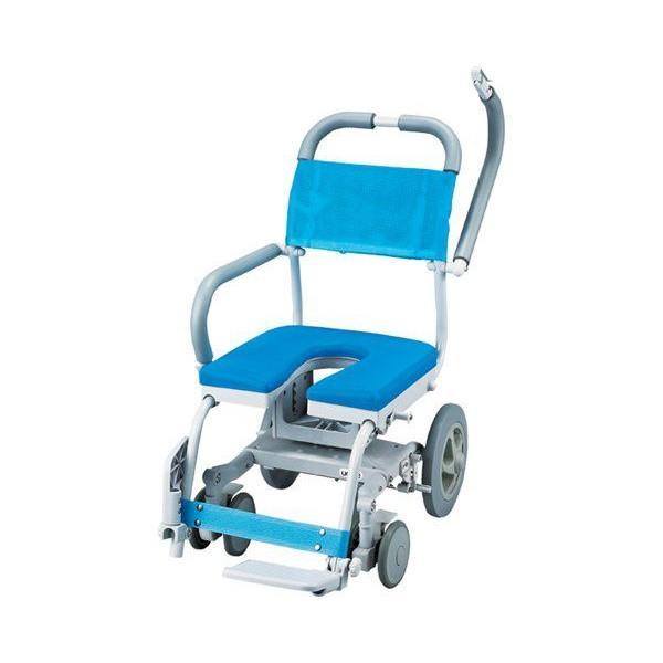 シャワーキャリー くるくるチェアD U型シート KRU-174入浴用車椅子