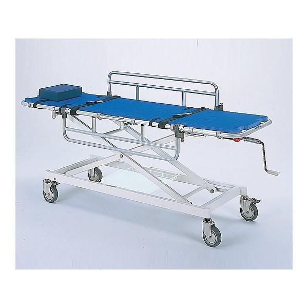 アルミ浴室用ストレッチャー 昇降式 担架幅55cm Eタイプ TY217ES-550 介護用品
