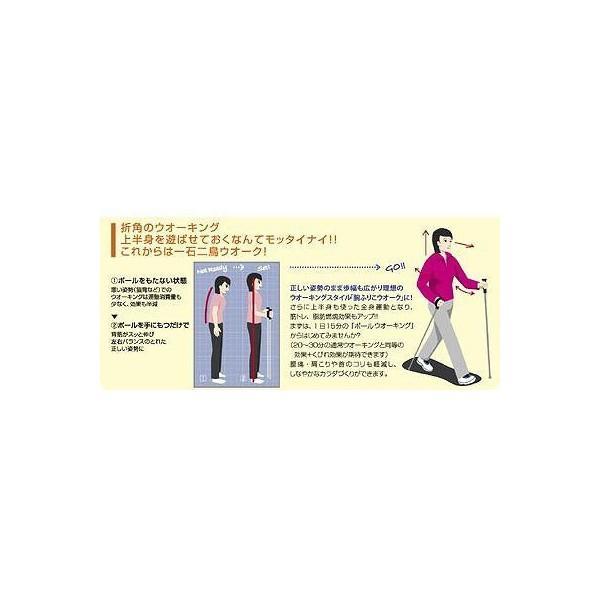 ウォーキングポール キザキ 男性向けサイズ 伸縮 2本1セット APAC-7202 tanosinia 03