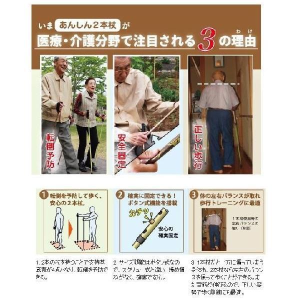 シナノ もっと安心2本杖 2本組 あんしん二本杖|tanosinia|03