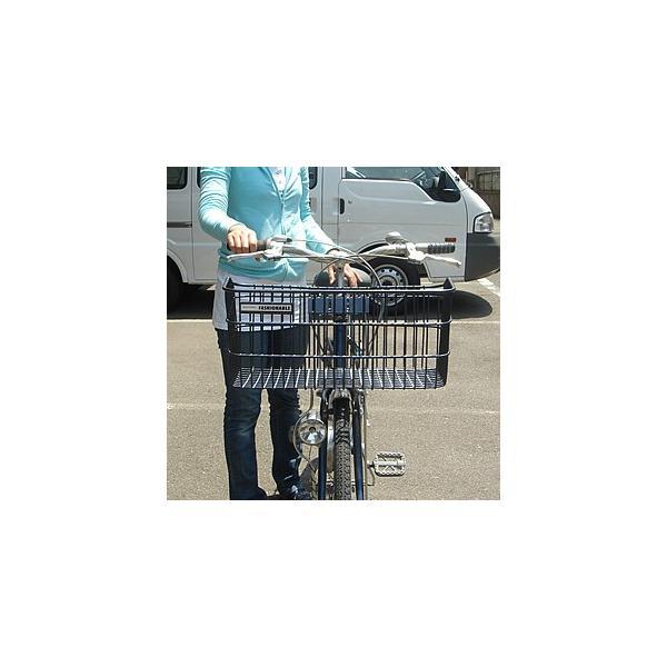 自転車かご 超ワイドな自転車カゴ デカーゴ 通勤 通学 お買い物に便利 ビジネスバッグ 買い物袋がちゃんと入る 自転車 かご 前 カゴ ワイド 大きい 大きな tanpopo 03