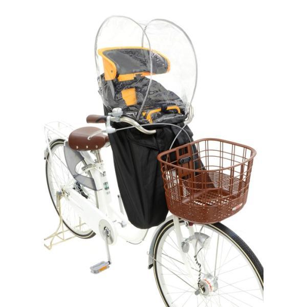 自転車 チャイルドシート 子供乗せ レインカバー OGK RCF-003ハレーロ・ミニ 後付けフロント 前乗せチャイルドシート対応 tanpopo 03