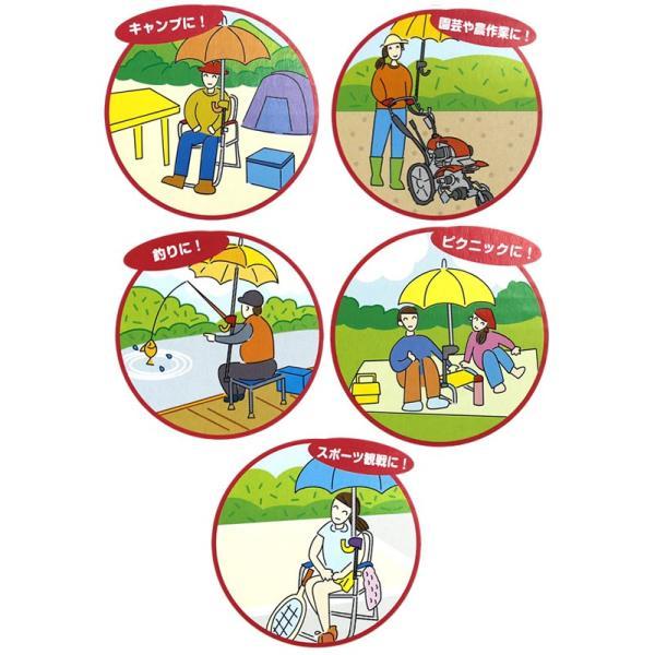 [送料無料]どこでもさすべえ ワンタッチタイプ 自転車用 傘スタンド 傘立て ユナイト さすべえ 万能タイプ|tanpopo|03