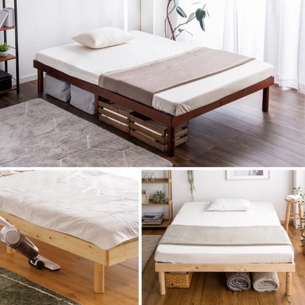 ベッド シングル すのこベッド ベッドフレーム 高さ調節 木製 すのこベッドフレーム シングル ベッド|tansu|13